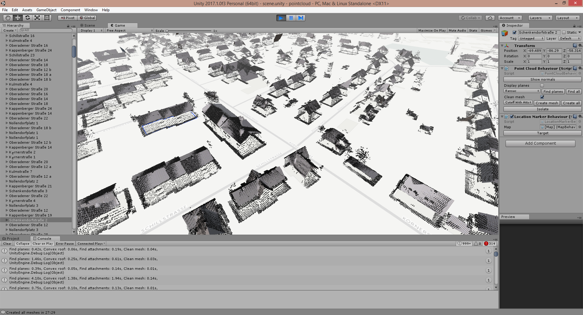 Generating 3D roof meshes from aerial LIDAR data | Marian's Blog